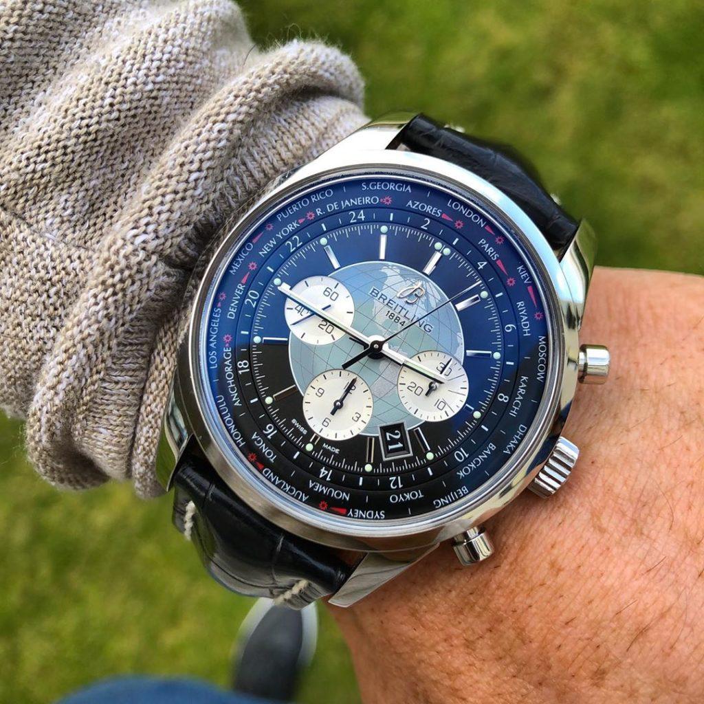 Breitling Transocean Unitime wristshot