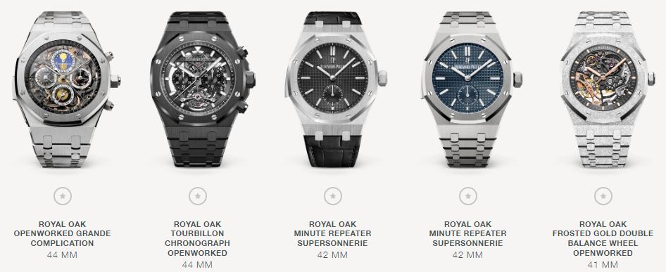 5  Audemars Piguet Royal Oak watches
