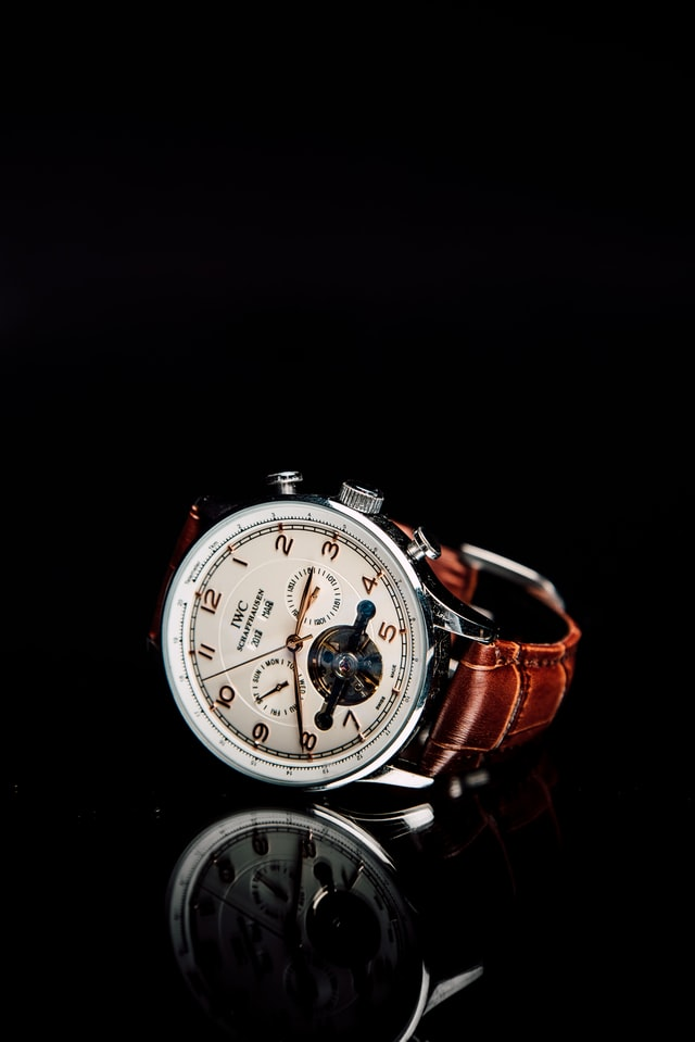 IWC Watch with its reflection