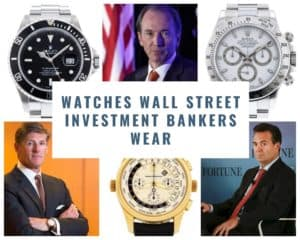 Watches for Investment Bankers: Spotted on Wall Street