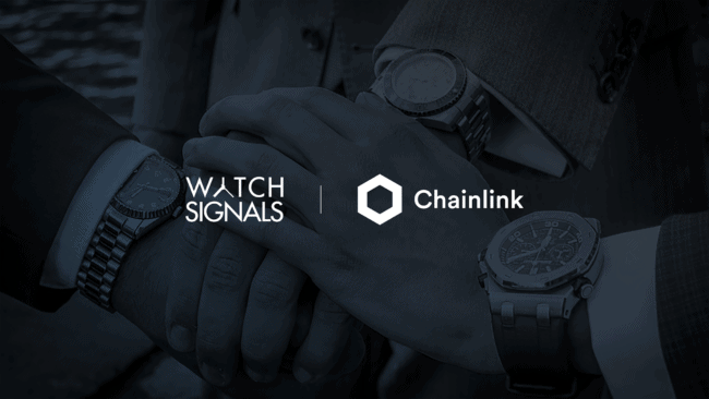 WatchSignals to Launch a Chainlink Node to Bring Luxury Watch Data Onto The Blockchain